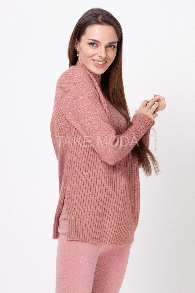 Базовый свитер с люрексом и пайетками