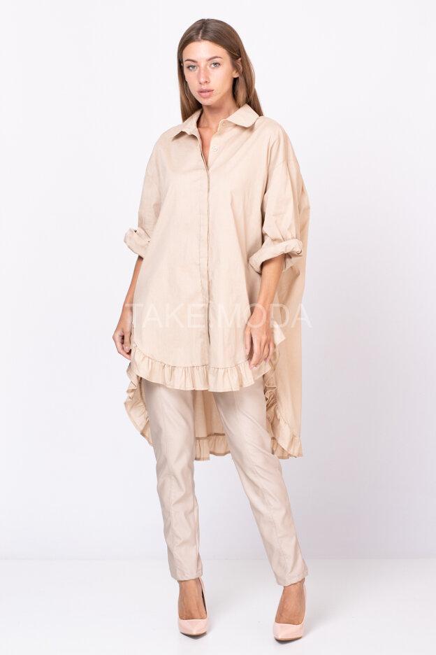 Удлиненная сорочка в романтическом стиле