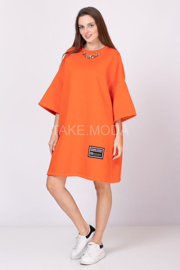 Утепленное платье Oversize