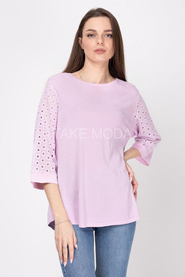 Блуза с ажурным рукавом