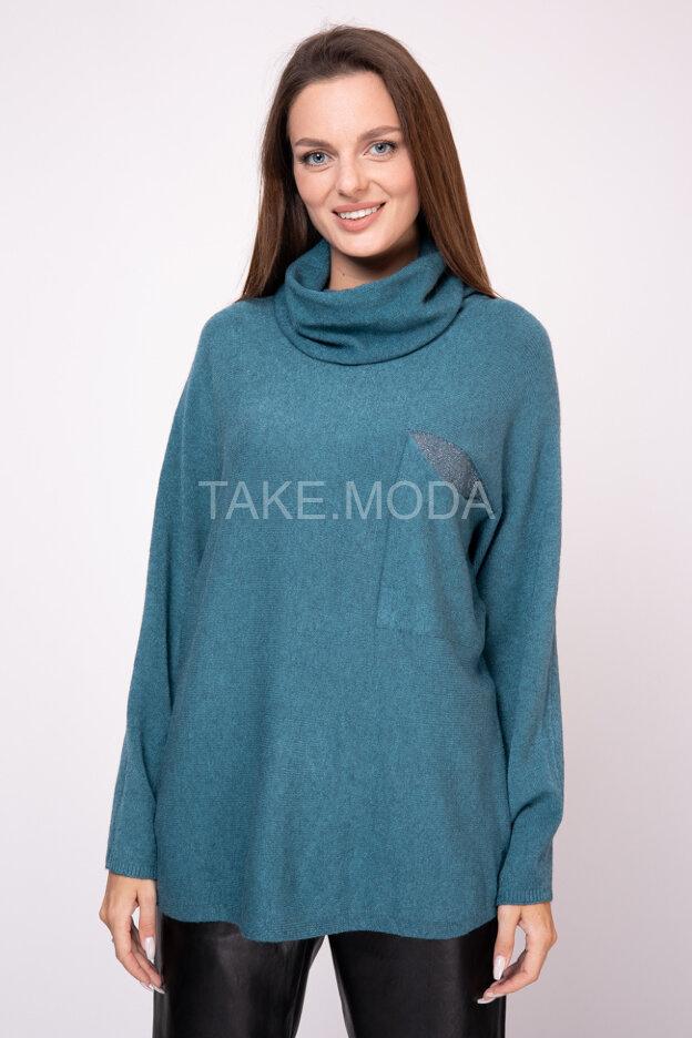 Свободный свитер с воротником хомут
