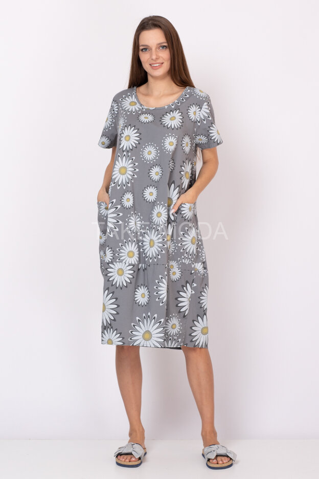 Платье Oversize с цветочным принтом