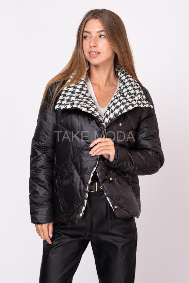 Короткая стеганная куртка