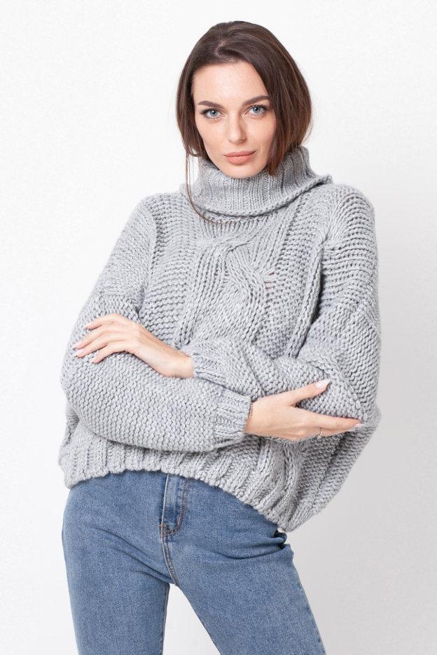 Укороченный вязаный свитер