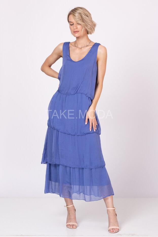 Ярусное шелковое платье