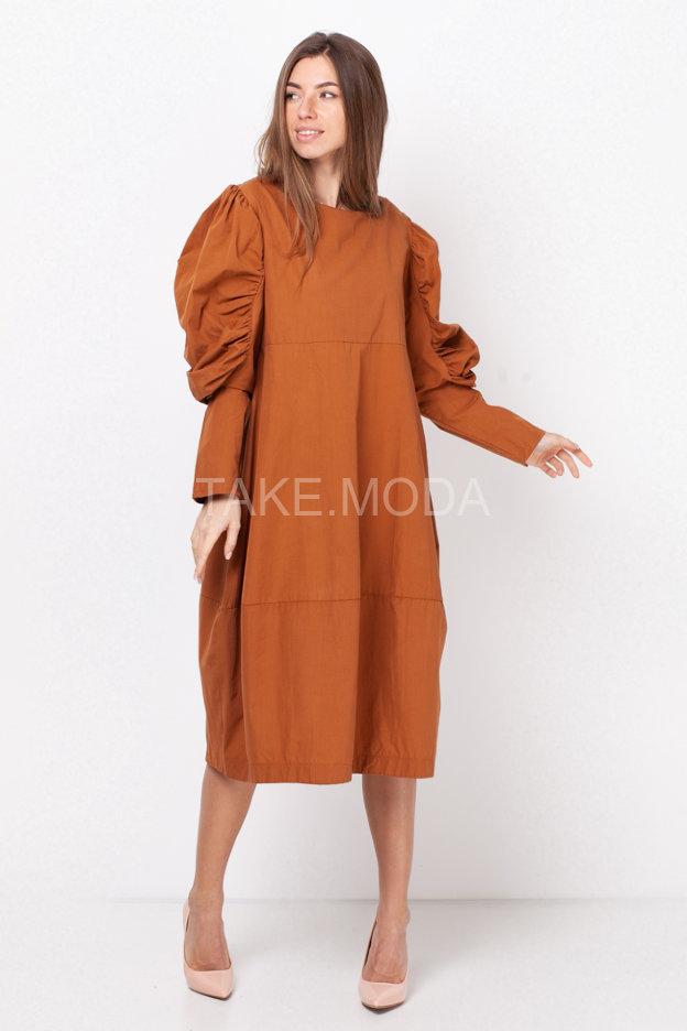 Хлопковое платье свободного кроя