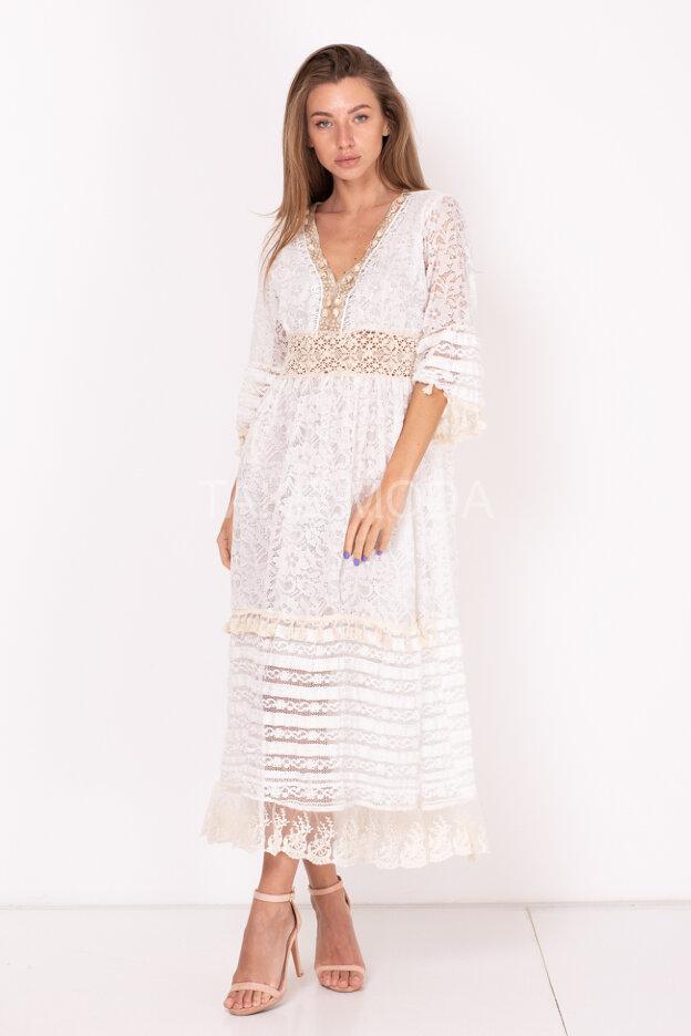 Ажурное комбинированное платье