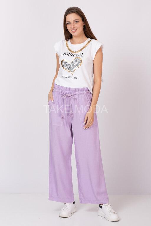 Прямые брюки из тенселя