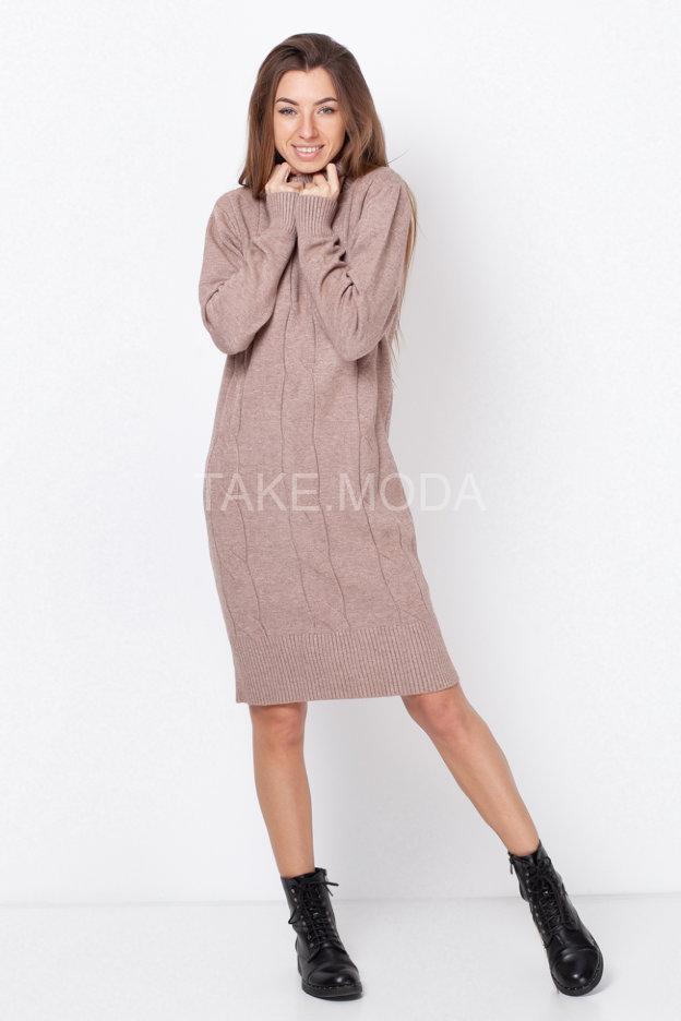 Трикотажное платье фактурной вязки
