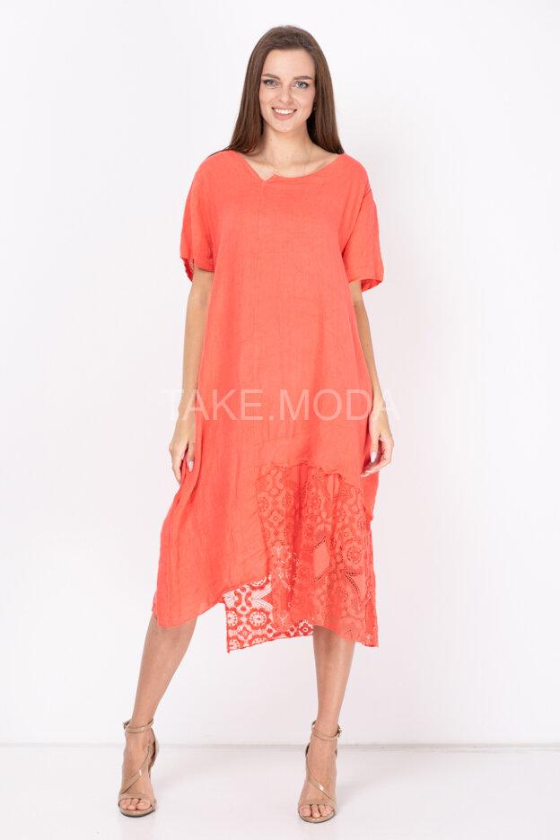 Комбинированное платье oversize