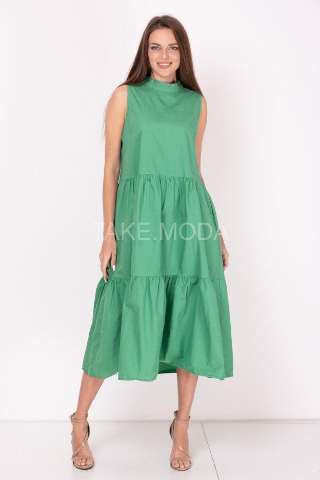 Ярусное платье с завязкой на спинке