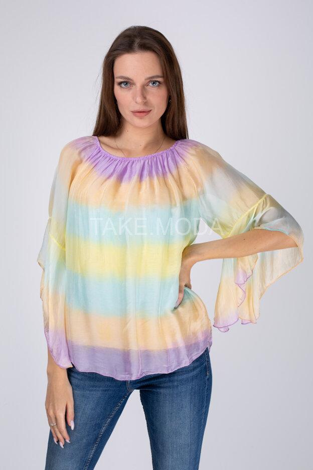 Блуза c нежным переходом цвета