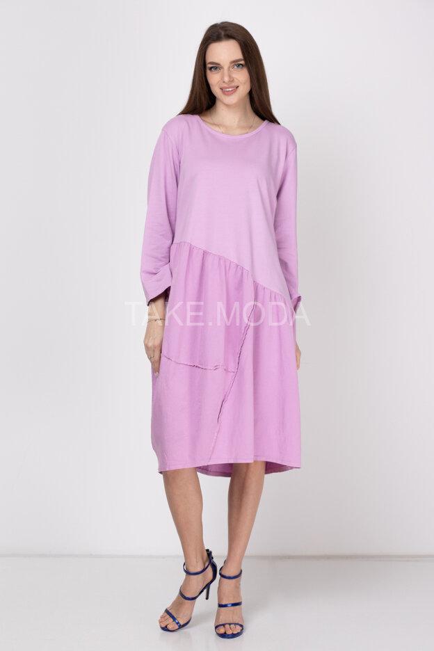 Платье oversize украшенное изнаночным швом