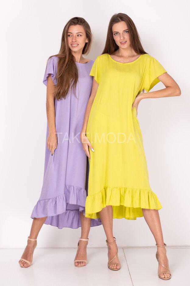 Платье из тенселя с завязкой на спинке