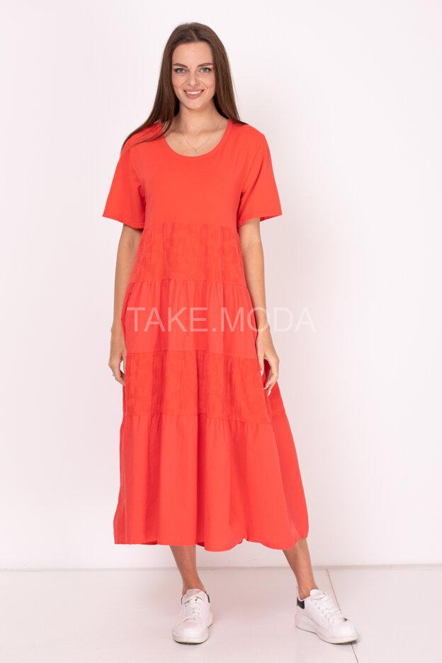Ярусное хлопковое платье
