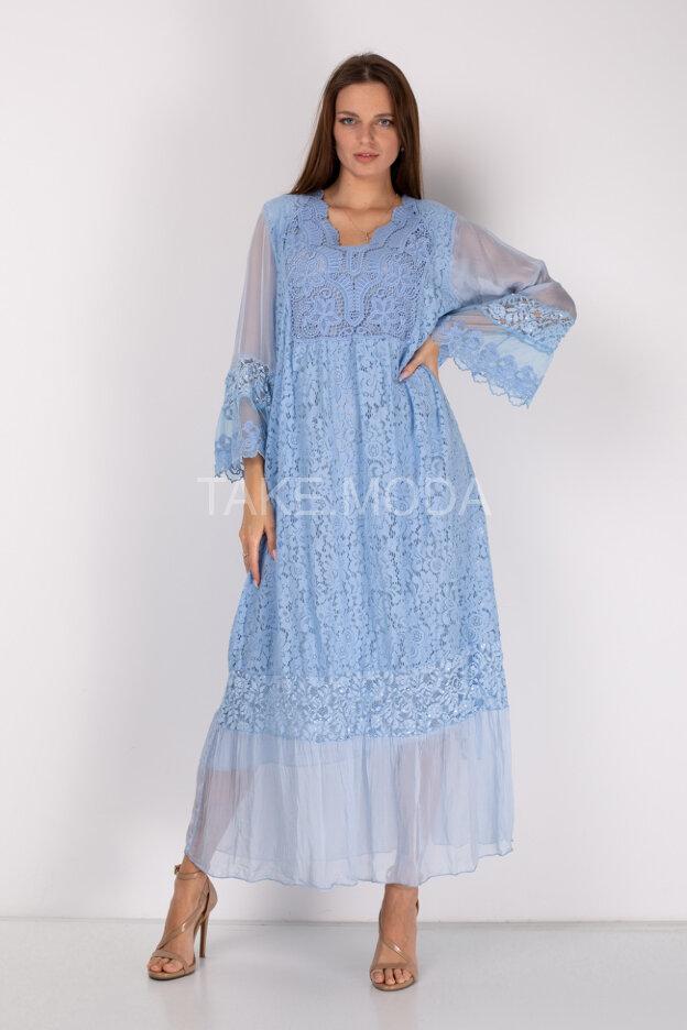 Комбинированное платье макси длины