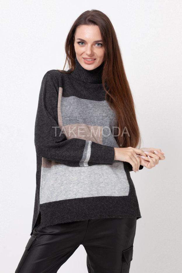 Трикотажный свитер с геометрическим принтом