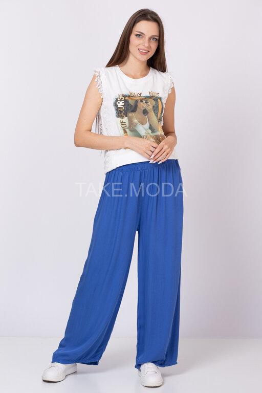 Однотонные вискозные брюки