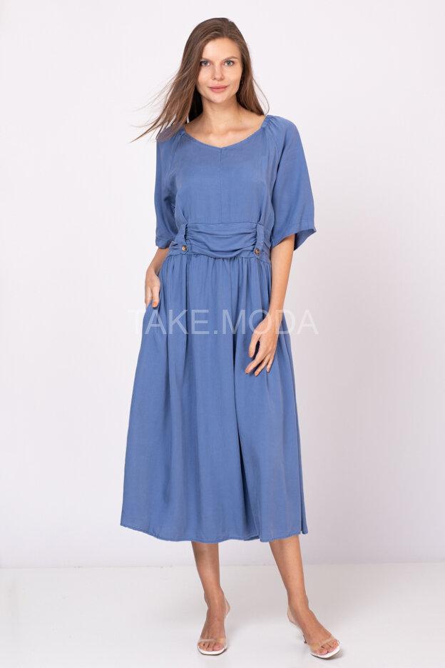 Однотонное платье из тенселя