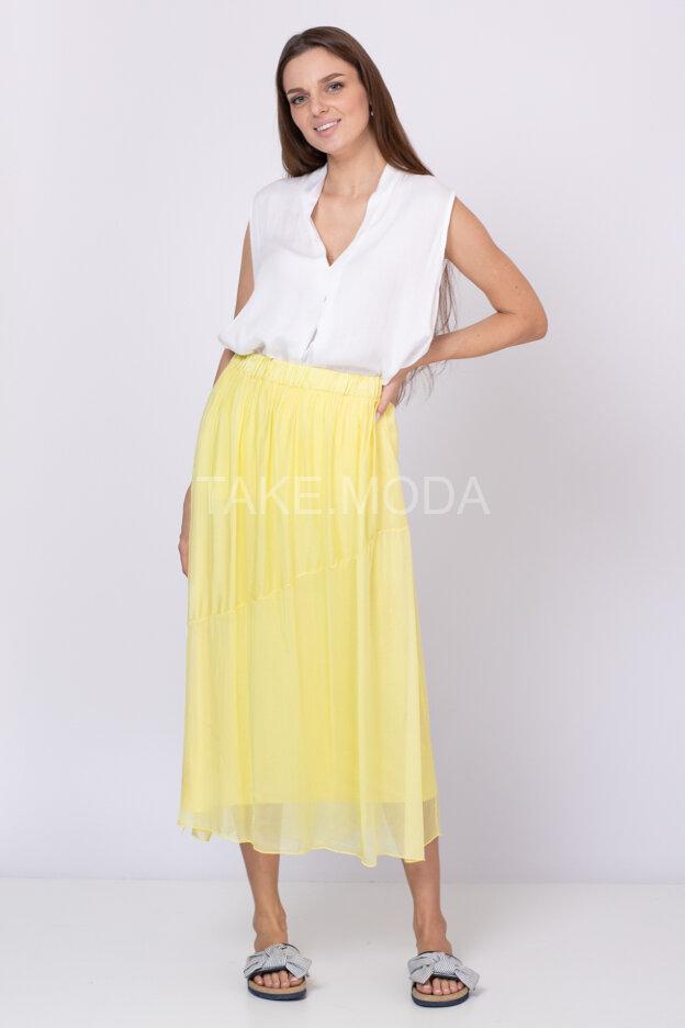 Шелковая юбка макси длины